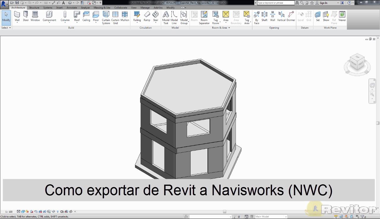 como exportar de revit a navisworks