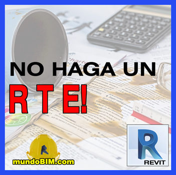 error plantilla rte revit
