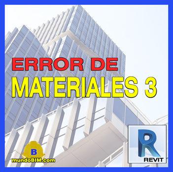 error de materiales revit presupuestos